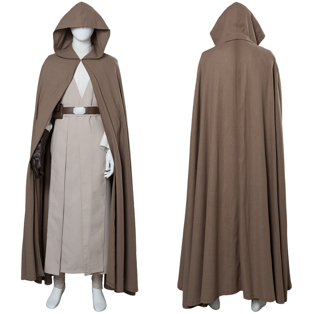Star Wars 8 The Last Jedi Luke Skywalker Outfit Cosplay Costume Ver.2
