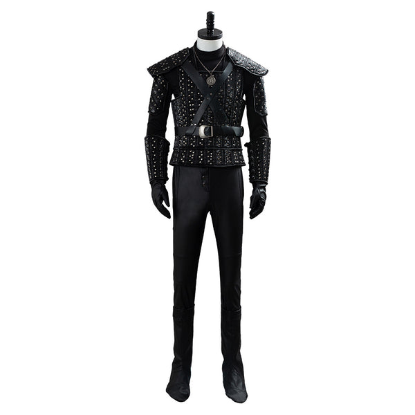 The Witcher Cavill Geralt Cosplay Costume Outfit TV Show