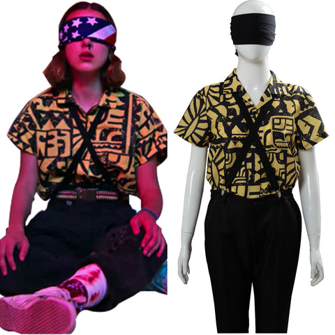 11 Eleven Battle Suit Stranger Things 3 Cosplay Costume Outfit Dress Suit Uniform