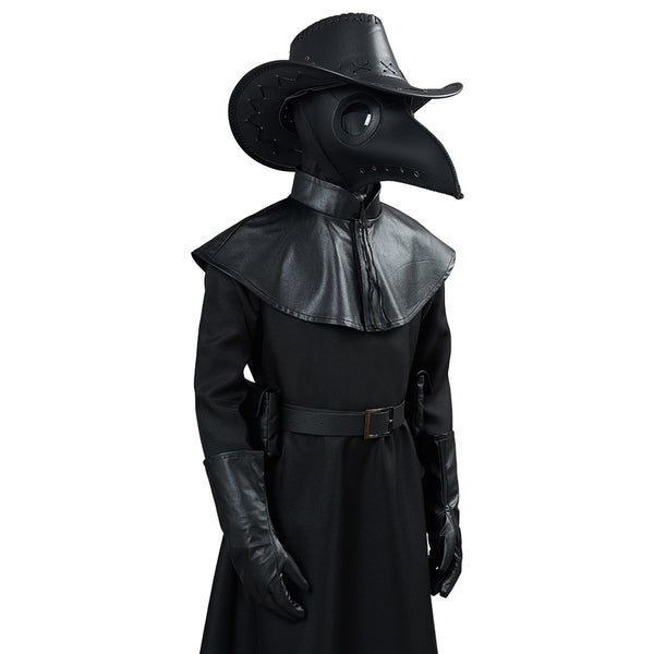 Plague Doctor Halloween Carnival Suit Outfit for Kids Children Cosplay Costume