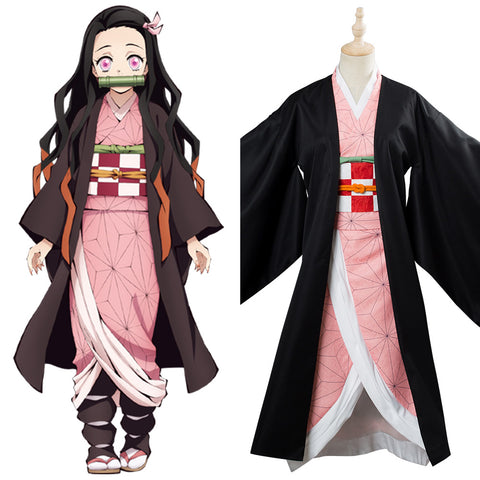 Blade of Demon Destruction Kamado Nezuko Outfit Cosplay Costume