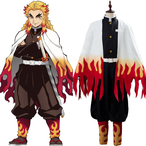 Demon Slayer: Kimetsu no Yaiba Rengoku Kyoujuro/Kyoujurou Uniform Cosplay Costume