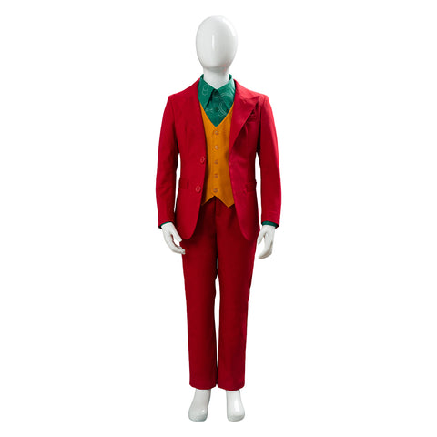 Joker Origin Romeo Joaquin Phoenix Arthur Fleck Cosplay Costume Outfit DC For Kid