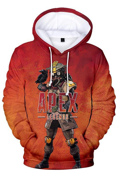 Teen Pullover Hoodie EA Games APEX Legends Bloodhound Pattern Sweatshirt