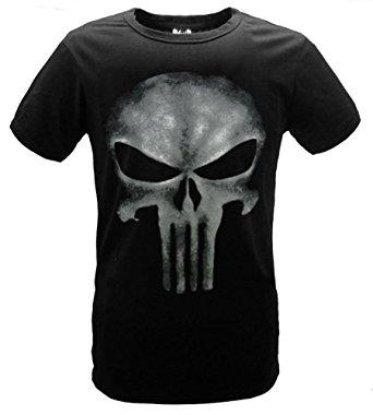 THE PUNISHER Skull T-shirt Black Shirt Tee