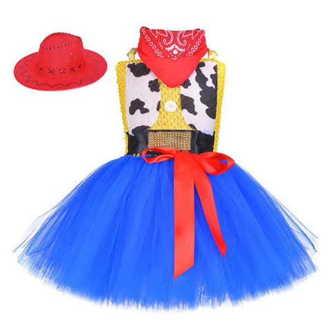 Toy Story 4 Jessie Bubble Dress Halloween Cosplay Costume Kids Little Girls
