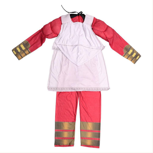 2019 Shazam Billy Batson Cosplay Costume For Kids Boys Toddler