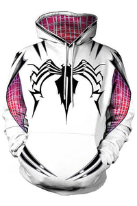 Girls Hoodie Spider-Gwen Gwen Stacy 3D Pullover Sweatshirt