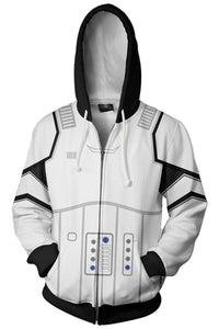 Star Wars Hoodie First Order Stoomtrooper Pullover Sweatshirt White