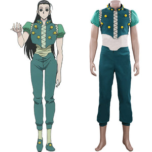 HUNTER×HUNTER Illumi Zoldyck Outfit Halloween Carnival Suit Cosplay Costume