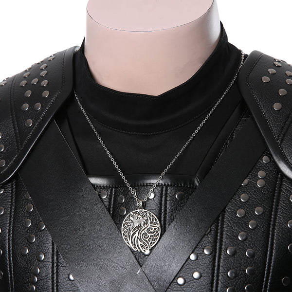 The Witcher Cavill Geralt of Rivia Suit Movie Cosplay Costume