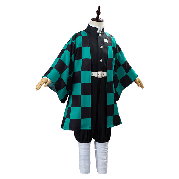 Anime Demon Slayer Kimetsu no Yaiba Uniform Outfit Kamado Tanjirou Cosplay Costume for Kids Children