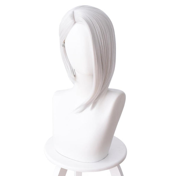 Overwatch Ashe Short Straight Cosplay Wig Silver White