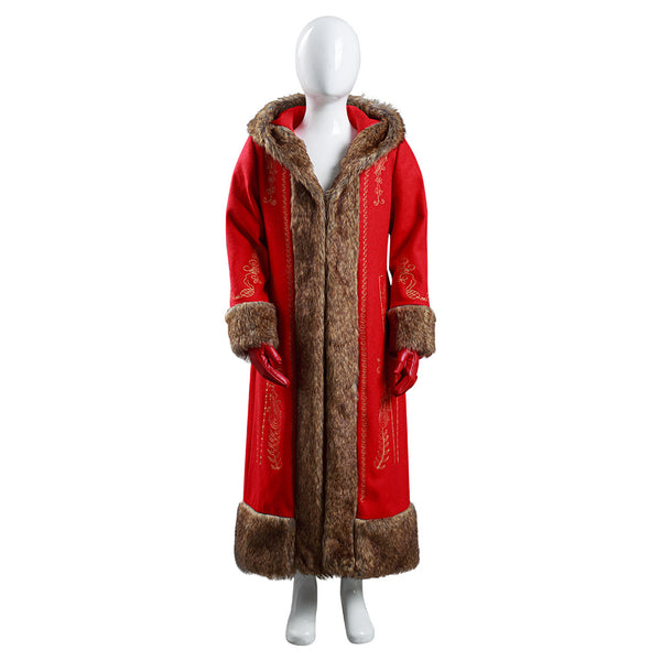 The Christmas Chronicles 2 Kids Children Coat Gloves Outfit Mrs. Claus Halloween Carnival Suit Cosplay Costume