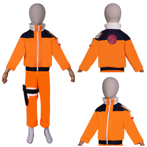 NARUTO Top Pants Outfit Naruto Uzumaki Halloween Carnival Suit Cosplay Costume KIds Children