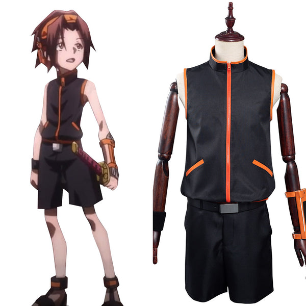 Shaman King The Super Star - Yoh Asakura Cosplay Costume Outfits Halloween Carnival Suit