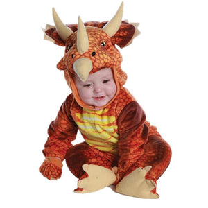 Kids Infant/Toddler Rust Triceratops Dinosaur T-Rex Cosplay Costume