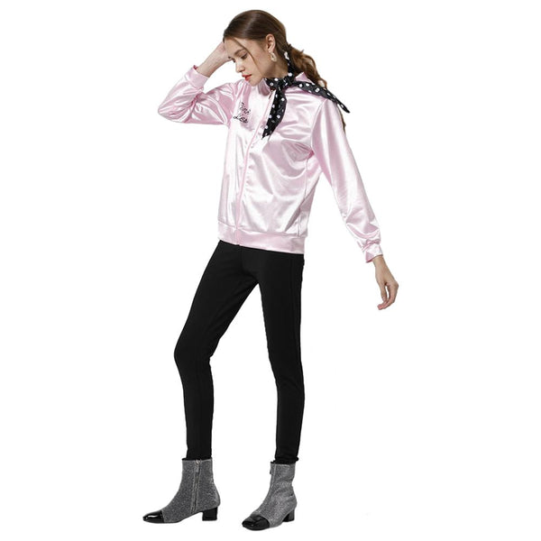 Movie Grease Pink Ladies Silks and Satins Jacket Women