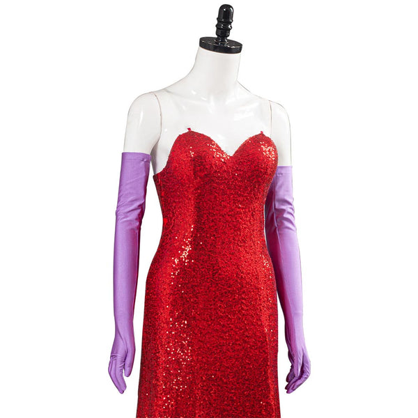 Movie Who Framed Roger Rabbit Halloween Carnival Costume Jessica Rabbit Women Dress Outfits Cosplay Costume