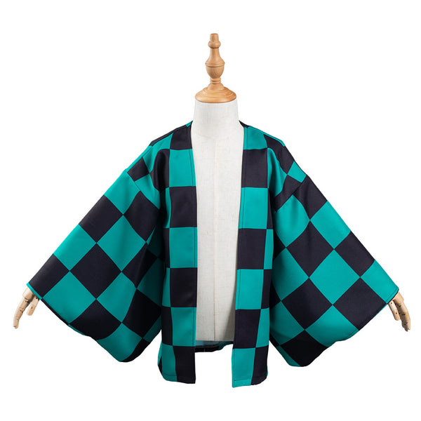 Demon Slayer: Kimetsu no Yaiba Kamado Tanjirou Kids Children Kimono Coat Cosplay Costume