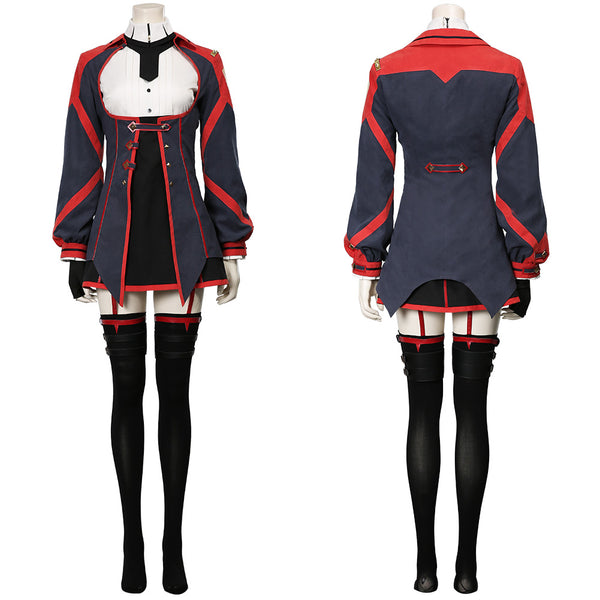 Demon King Academy Women Dress Outfit Sasha Necron Halloween Carnival Suit Cosplay Costume