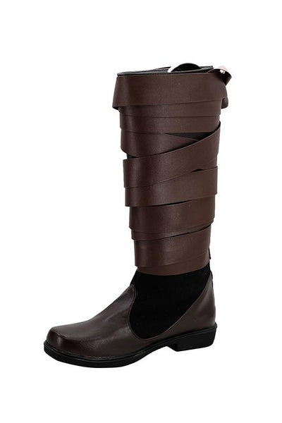 Star Wars 8 The Last Jedi Luke Skywalker Boots Cosplay Shoes