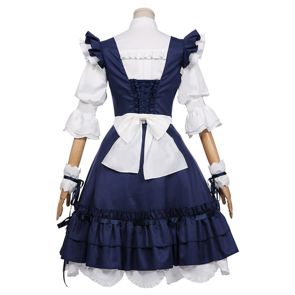FINAL FANTASY XIV Halloween Carnival Costume Miqo'te Maid Outfit Cosplay Costume