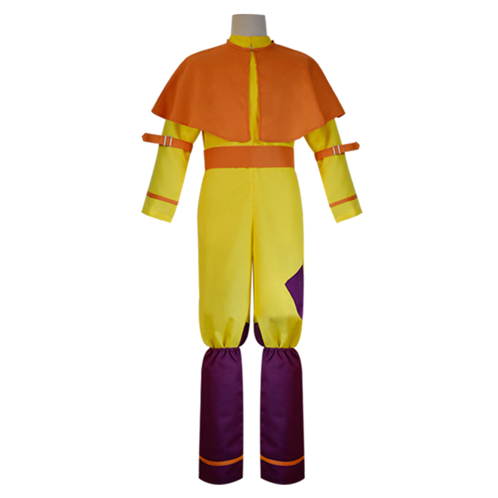 Movie Avatar The Last Airbender Avatar Aang Cosplay Costume Jumpsuit Outfits Halloween Carnival Costume