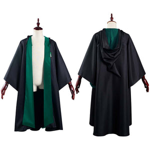 Harry Potter Slytherin Magic Gown Robe Cosplay Costume Halloween Carnival Suit