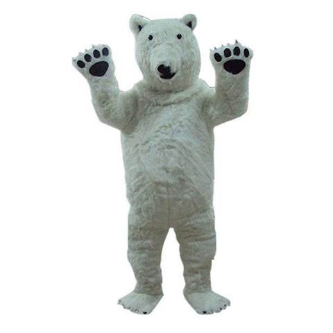 Polar Bear Mascot Costume Fancy Dress Outfit