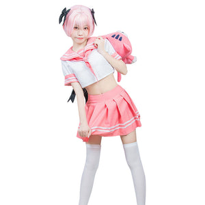 Fate/Grand Order FGO Sailor Suit Dress Outfit Astolfo Halloween Carnival Costume Cosplay Costume