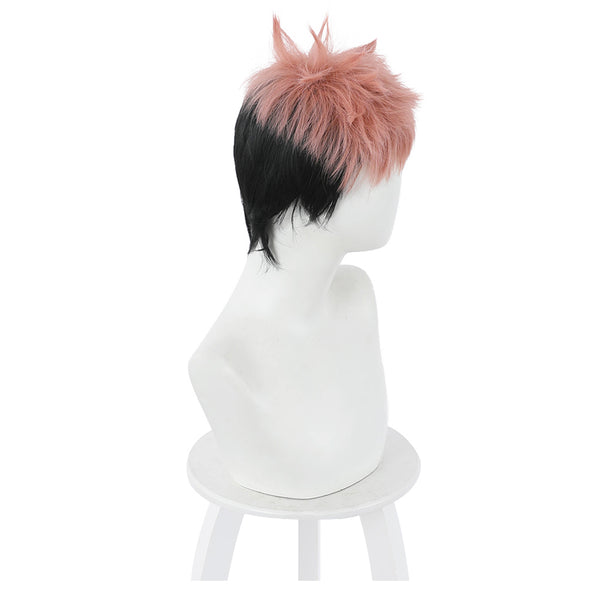 Jujutsu Kaisen Heat Resistant Synthetic Hair Yuuji Itadori Carnival Halloween Party Props Cosplay Wig