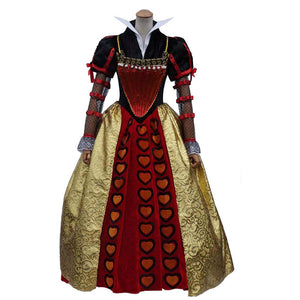 Alice In Wonderland Red Queen Halloween Cosplay Costume