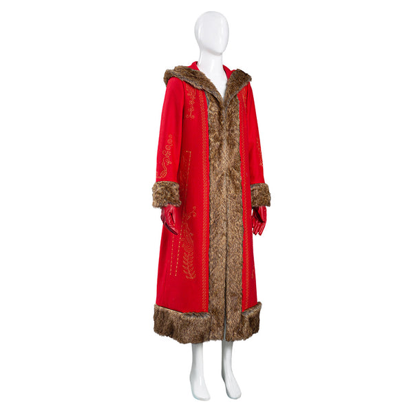 The Christmas Chronicles 2 Halloween Carnival Suit Mrs. Claus Women Coat Cosplay Costume