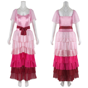 Harry Potter Pink Ball Gown Dress Hermione Granger Cosplay Costume For Adult Women Girls