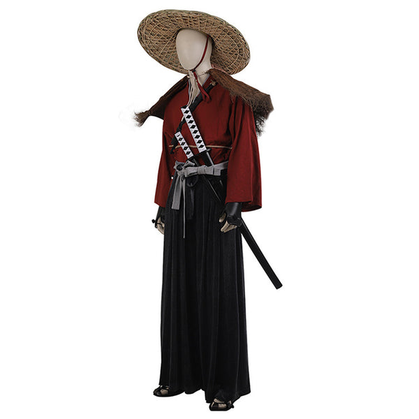 Game Ghost Of Tsushima Japan Samurai Warriors Outfit Jin Sakai Halloween Carnival Costume Cosplay Costume