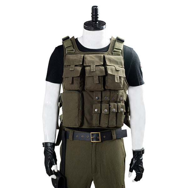 RESIDENT EVIL 3 REMAKE Carlos Oliveira Men Uniform Outfit Cosplay Costume Halloween Carnival Costume