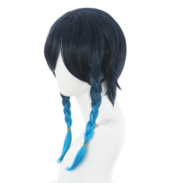 Game Genshin Impact Heat Resistant Synthetic Hair Venti Carnival Halloween Party Props Cosplay Wig