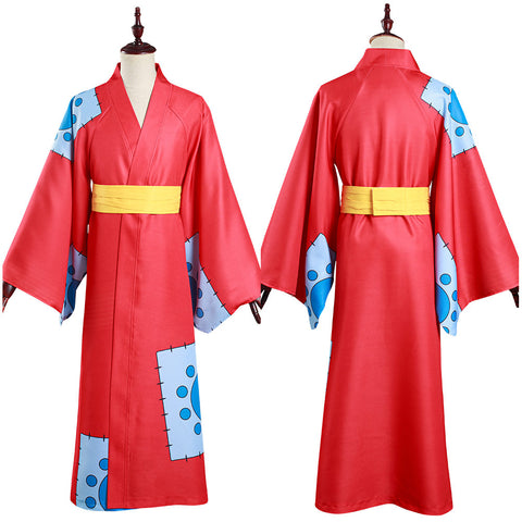 One Piece Kimono Outfit Wano Country Monkey D. Luffy Halloween Carnival Suit Cosplay Costume