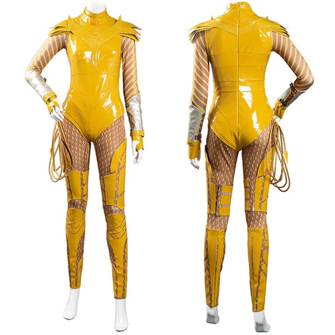 Wonder Woman 1984 Halloween Carnival Costume Gold Jumpsuit Battle Suit WW84 Cosplay Costume
