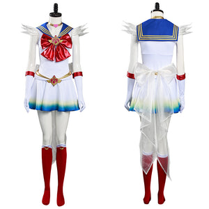 Sailor Moon Dress Outfit Eternal Tsukino Usagi Halloween Carnival Costume Cosplay Costume
