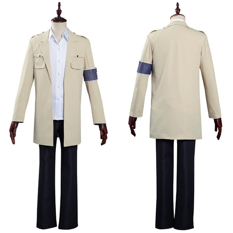 Attack on Titan The Final Season Coat Shirt Outfit Eren Jaeger Halloween Carnival Costume Cosplay Costume