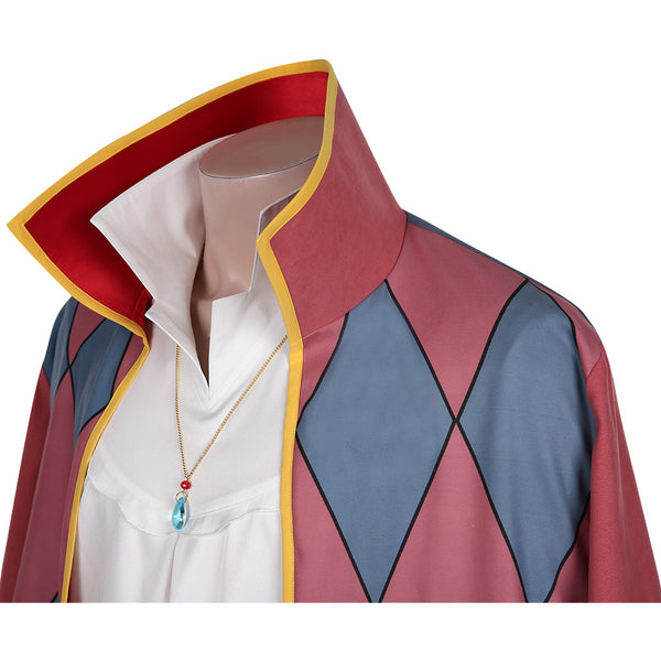 Movie Howl's Moving Castle Cloak Outfit Howl Halloween Carnival Suit Cosplay Costume