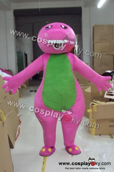 Barney the Dinosaur Mascot Costume Adult Size