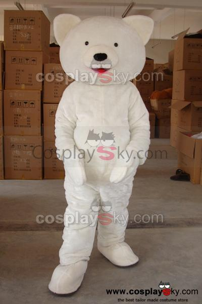 Cartoon Polar Bear Mascot Costume Adult Size