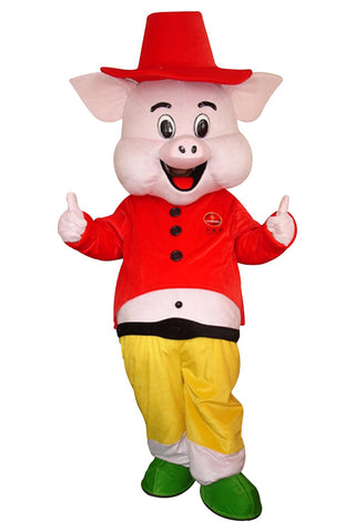 Cartoon Pig Mascot Costume Adult Size