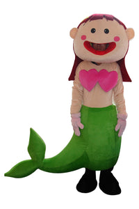 Cartoon Mermaid Mascot Costume Adult Size