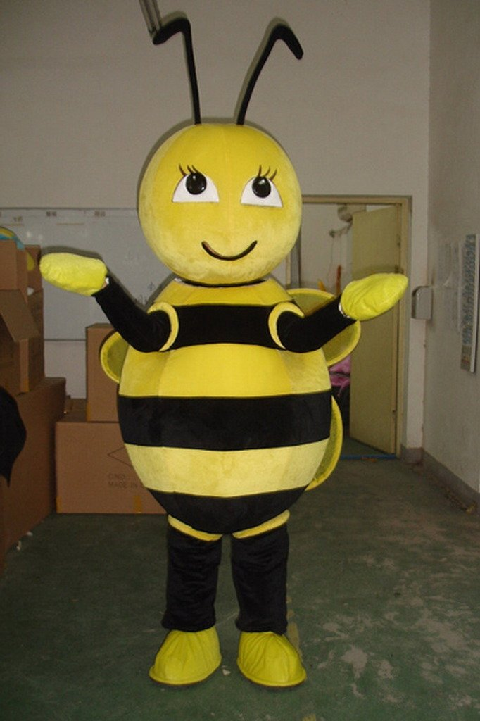 Cartoon Honeybee Mascot Costume Adult Size