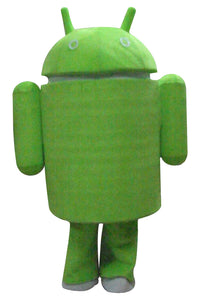 Android Logo Green Robot Mascot Costume Adult Size Style B
