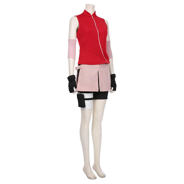 NARUTO Halloween Carnival Costume Haruno Sakura Women Girls Skirt Outfit Cosplay Costume
